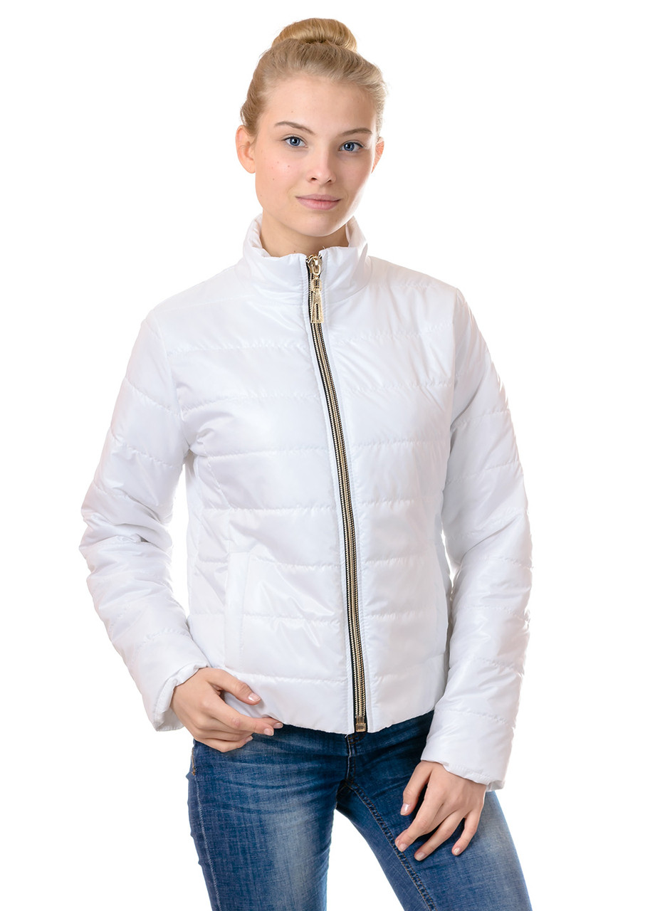 Женская демисезонная куртка Irvik FZ154 белая
