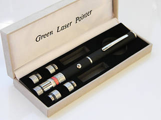 Потужна лазерна указка 8420 Lazer 5 в 1 з насадками