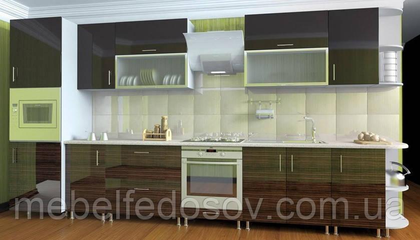 Кухня Hihg Gloss / Хьюго Глосс (Мебель стар) палисандр+шоколад