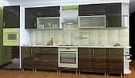 Кухня Hihg Gloss / Хьюго Глосс (Мебель стар) палисандр+шоколад, фото 1