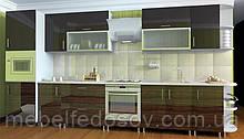 Кухня Hihg Gloss / Хьюго Глос (Меблі стар) палісандр+шоколад м/п