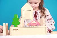 Детский деревянный Конструктор «Містечко»