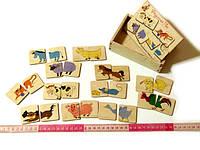 Деревянные головоломка Пазлы половинки Домашние животные