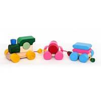 Деревянный констуктор для развития детей  Конструктор-логика  Поезд