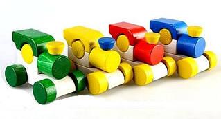 Детская  деревянная игрушка каталка для малыша Паровозик  Малыш З.