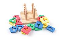 Детская  деревянная игрушка  для развития  Пирамидки Логический квадрат маленький