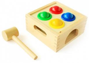 """Деревянная игрушка стучалка для развития""""Шарики"""""""
