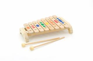 """Музыкальная деревянная игрушка  """"Ксилофон"""" 8 тональная"""