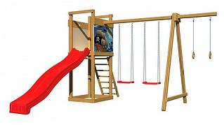 Детская спортивная игровая площадка бук / береза, сосна SportBaby-4