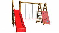 Детская спортивная игровая площадка бук / береза, сосна SportBaby-5