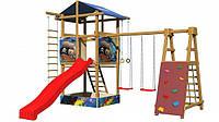 Детская спортивная игровая площадка бук / береза, сосна SportBaby-9