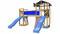 Детская спортивная игровая площадка бук / береза, сосна SportBaby-11