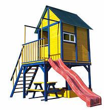 Детский деревянный Домик игровой для детей 330*250*190