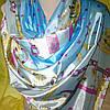 Палантин шёлк голубого цвета , фото 2