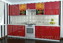 Кухня Hihg Gloss / Хьюго Глос (Меблі стар) фераррі+фотодрук м/п