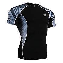 Комплект компрессионная футболка Fixgear и компрессионные штаны C2S-B41+P2L-B41, фото 2