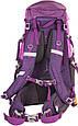 Качественный, туристический рюкзак 45 л. Onepolar W1638-violet фиолетовый, фото 4