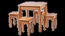 Стіл кухонний дерев'яний Квадро RoomerIN , колір натуральний, фото 2