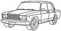 Бампер задний ВАЗ 2107