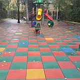 Покрытие для детских площадок - ТРАВМОБЕЗОПАСНАЯ РЕЗИНОВАЯ ПЛИТКА, фото 3