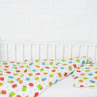 """Комплект сменного постельного белья в кроватку """"Барашки"""""""