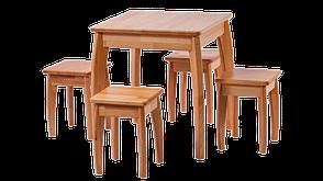 Табурет деревянный без обивки Квадро RoomerIN , цвет натуральный, фото 2