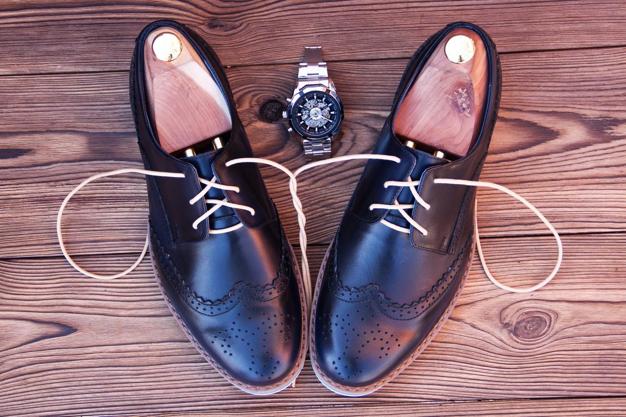 Мужские кожаные броги на высокой подошве Florentino, made in Italy, (новые).