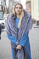 Меховая накидка палантин из чернобурки  silver fox fur cape pelerine
