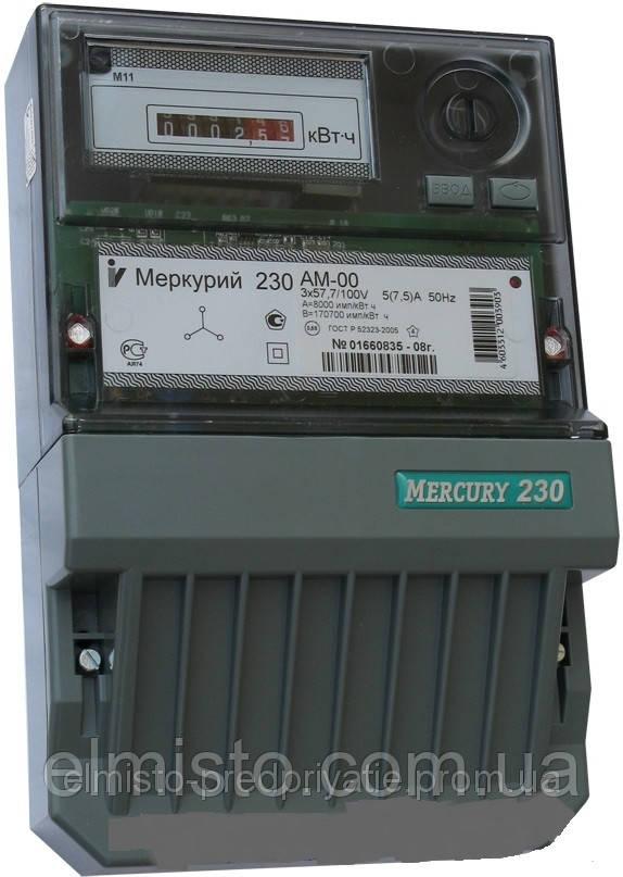 Электросчетчик Меркурий 230 АМ-00 3*57,7/100В 5(7,5)А 0,5S трехфазный трансф. включения