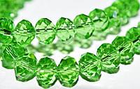 Бусины хрусталь, 10 мм,  зеленый (60 шт) 5_24_307
