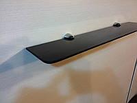 Полка 6 мм стеклянная чёрная 60х15 см
