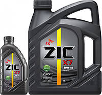 Моторное масло ZIC X7 Diesel 10W-40 6литров