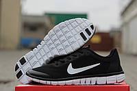 Кроссовки Nike Free Run 3.0 черные с белым 1861