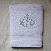 """Крестильное полотенце крыжма """"Крестик с орнаментом"""" вышивка с одной стороны"""