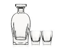 Графин для виски со стаканами Luigi Bormioli Rossini Bottle with DOF, 3 предмета