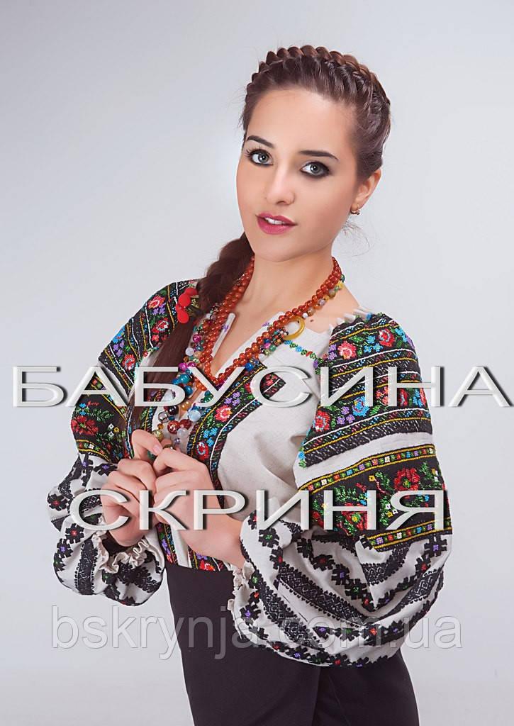 Заготовка Борщівської жіночої сорочки для вишивки нитками/бісером БС-73
