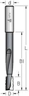 Фреза пазовая двузубая аксиальная с измельчителем для глубокого фрезерования под замки WPW Израиль D19-B25-L170-d12