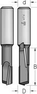 Фреза пазовая с аксиальной двунаправленной режущей кромкой WPW Израиль D12,7-B38-L79-Z1+1-d12