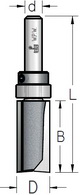 Фреза обгонная с верхним подшипником серии K-BITS WPW Израиль D12-B25-L70-Z2-d8