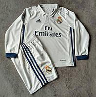Детская футбольная форма с длинным рукавом Adidas FC Real Madrid 2016-17 (домашняя)