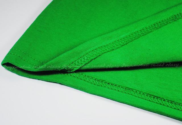 Ярко-зелёная женская классическая футболка