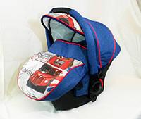 Детское автокресло Adamex CARLO World Collection British Design Red Blue, фото 1