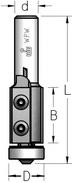 Фреза обгонная со сменными ножами и нижним подшипником WPW Израиль D19-B12-L52-Z2-d6