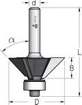 Фреза для снятия фасок с нижним подшипником WPW Израиль D22,2-B22-L67-d6