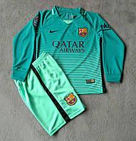 Детская футбольная форма с длинным рукавом  Nike FC Barcelona  2016-17