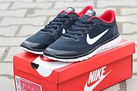 Кроссовки Nike Free Run 3.0 темно синие с красным 1864