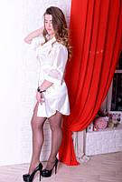 Роскошный шелковый женский халатик