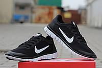 Женские кроссовки NIKE FREE RUN 3.0, сетка, черно белые / беговые кроссовки женские НАЙК ФРИ РАН 3.0, стильные