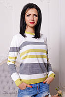 Модный женский свитер в полоску 2094 Seventeen 44-50 размеры