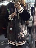 Бомбер из скандинавской норки , длина 90 см